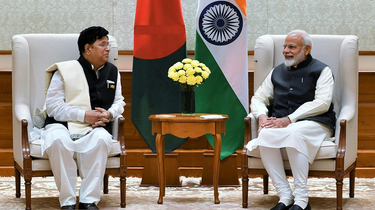 Foreign Minister AK Abdul Momen (left) in meeting with Indian Prime Minister Narendra Modi on February 7, 2019. Photo: PIB, India