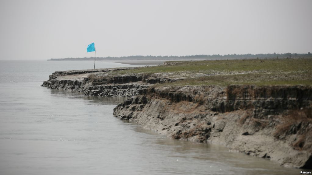 View of the island of Bhasan Char in the Bay of Bengal, Bangladesh, Feb. 14, 2018.
