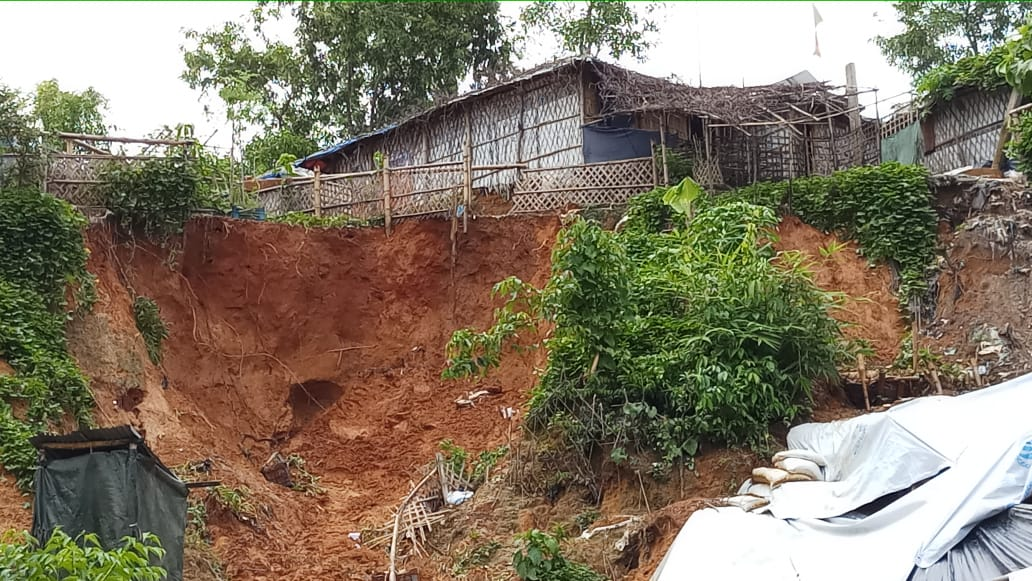 Landslide in Bangladesh camps