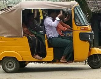 3 wheels taxi in Maungdaw