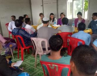 Christine Burgener meeting with Rohingyas in Sittwe on 12 July 2019
