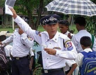 Traffic Police Than Shwe from Buthidaung