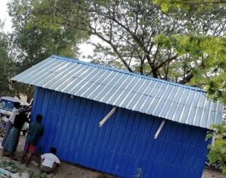 A Rakhine has built a shop on Rohingya land